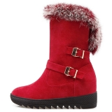 Fur Boots Red