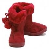Red Boots With Fur