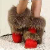 Red Fox Fur Boots