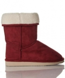 White Fur Lined Red Boots
