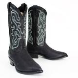 Black Shark Skin Boots