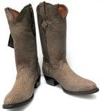 Shark Skin Round Toe Boots