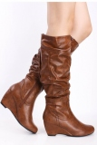 Wedge Slouch Boots Womens