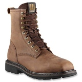 Square Toe Steel Toe Lace Up Boots