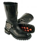 Black Square Toe Boots Steel Toe