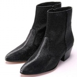 Ankle Stingray Skin Boots