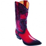 Red Stingray Skin Boots