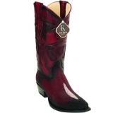 Stingray Skin Snip Toe Boots