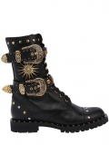 Black Studded Combat Boots