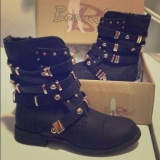 Cute Studded Combat Boots