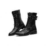 Mens Studded Combat Boots