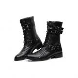 Mens Studded Combat Boots