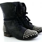 Studded Black Combat Boots