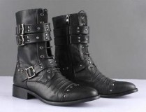 Studded Combat Boots for Men