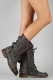 Studded Combat Boots for Women