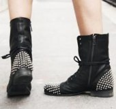 Studded Womens Combat Boots