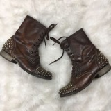 Sudded Toe Combat Boots