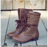 Cheap Studded Combat Boots