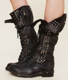Girls Studded Combat Boots