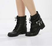 Military Studded Ankle Boots