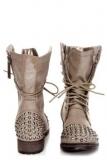 Rhinestone Studded Combat Boots