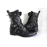 Spiked Studded Combat Boots