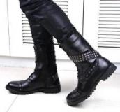 Studded Combat Boots Men