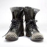 Studded Military Combat Boots