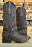 Corral Overlay Studded Cowgirl Boots