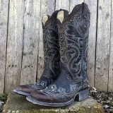 Embroidered & Studded Cowgirl Boots