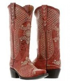 Red Studded Cowgirl Boots