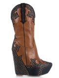 Studded Cowgirl Boots Wedge