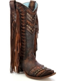 Brown Studded Cowgirl Boots