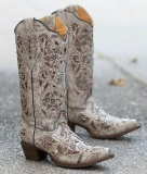 Grey Studded Cowgirl Boots