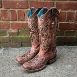 Square Toe Studded Cowgirl Boots