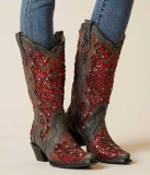 Studded Cowgirl Boots Heel