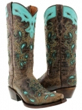 Studded Cowgirl Boots Snip Toe