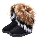 Stylish Women's Snow Boots Faux Fur