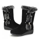 Stylish Women's Snow Boots Mid Calf