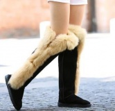 Stylish Women's Snow Boots with Fur