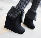 Stylish Women's Wedge Snow Boots