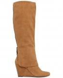 Tall Cuffed Wedge Boots