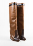 Tall Fold Over Wedge Boots