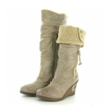 Womens Tall Wedge Boots
