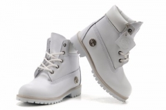 White Timberland Boots for Kids