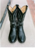 Black Wedding Cowgirl Boots