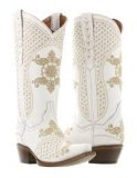 Ivory Wedding Cowgirl Boots