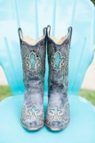 Blue Cowgirl Boots Wedding