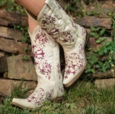 Embroidered Cowgirl Boots for Wedding