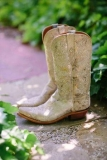 Gold Wedding Cowgirl Boots